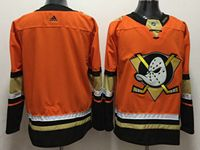 Mens Nhl Anaheim Mighty Ducks Custom Made Orange Adidas Jersey