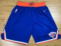 Mens 2017-18 Season Nba New York Knick Blue Nike Shorts