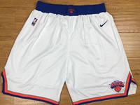 Mens 2017-18 Season Nba New York Knick White Nike Shorts