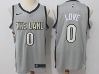 Mens Nba Cleveland Cavaliers #0 Kevin Love Gray City Edition Swingman Jersey
