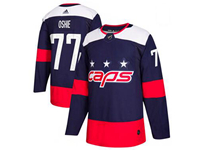 Mens Nhl Washington Capitals #77 T. J. Oshie Blue 2018 Stadium Series Pro Player Adidas Jersey