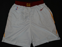 Mens 2017-18 Season Nba Cleveland Cavaliers White Nike Shorts