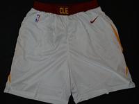 Mens 2017-18 Season Nba Cleveland Cavaliers White Nike Shorts