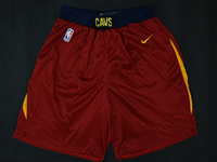 Mens 2017-18 Season Nba Cleveland Cavaliers Red Nike Shorts