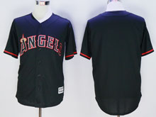 Mlb Los Angeles Angels Blank Black Fashion Jerseys