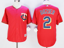 Mens Mlb Minnesota Twins #2 Brian Dozier Red Cool Base Jersey