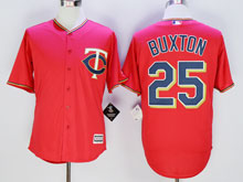 Mens Majestic Minnesota Twins #25 Byron Buxton Red Cool Base Jersey
