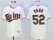 Mens Majestic Minnesota Twins #52 Park White Flex Base Jersey