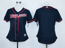 Women Majestic Minnesota Twins (blank) Blue Jersey