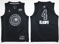 Mens 2018 All Star Nba Indiana Pacers #4 Victor Oladipo Black Jersey