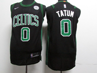 Youth Nba Boston Celtics #0 Jayson Tatum Black Swingman Nike Jersey