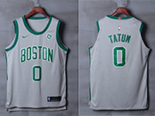 Mens Nba Boston Celtics #0 Jayson Tatum Gray Nike City Edition Jersey