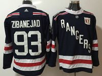 Mens Nhl New York Rangers #93 Mika Zibanejad Dark Blue 2018 Winter Classic Breakaway Adidas Jersey