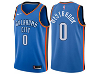 Youth 2017-18 Season Nba Oklahoma City Thunder #0 Russell Westbrook Blue Jersey