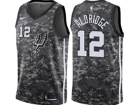 Mens 2017-18 Season Nba San Antonio Spurs #12 Lamarcus Aldridge Camo Nike City Edition Swingman Jersey