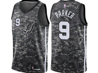 Mens 2017-18 Season Nba San Antonio Spurs #9 Tony Parker Camo Nike City Edition Swingman Jersey