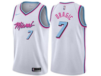 Mens Nba Miami Heat #7 Goran Dragic White Nike Vice Uniform City Edition Swingman Jersey