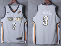 Mens Nba Cleveland Cavaliers #3 Isaiah Thomas Gray Nike City Edition Authentic Jersey