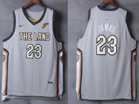Mens Nba Cleveland Cavaliers #23 Lebron James Gray Nike City Edition Authentic Jersey