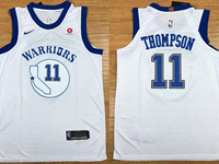 Mens Nba Golden State Warriors #11 Klay Thompso White Hardwood Classic Edition Swingman Jersey