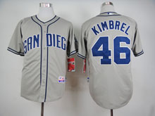 Mens Mlb San Diego Padres #46 Kimbrel Gray Cool Base Jersey