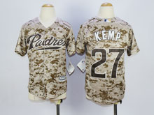 Youth Mlb San Diego Padres #27 Matt Kemp Camo Cool Base Jersey