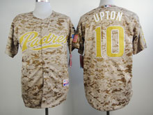 Mens Mlb San Diego Padres #10 Upton Camo Cool Base Jersey