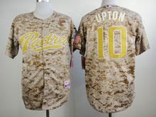 Mens Mlb San Diego Padres #10 Upton Camo Cool Base Jersey