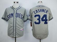 Mens Mlb San Diego Padres #34 Cashner Gray Cool Base Jersey