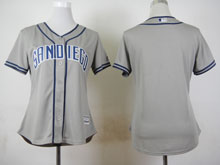 Women Mlb San Diego Padres Blank Grey Cool Base Jersey