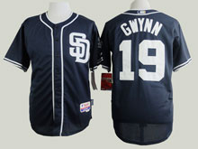 Mens Mlb San Diego Padres #19 Tony Gwynn Blue ( Sd ) Cool Base Baseball Jersey