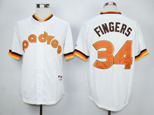 Mens Mlb San Diego Padres #34 Cashner White 1984 Turn Back Jersey