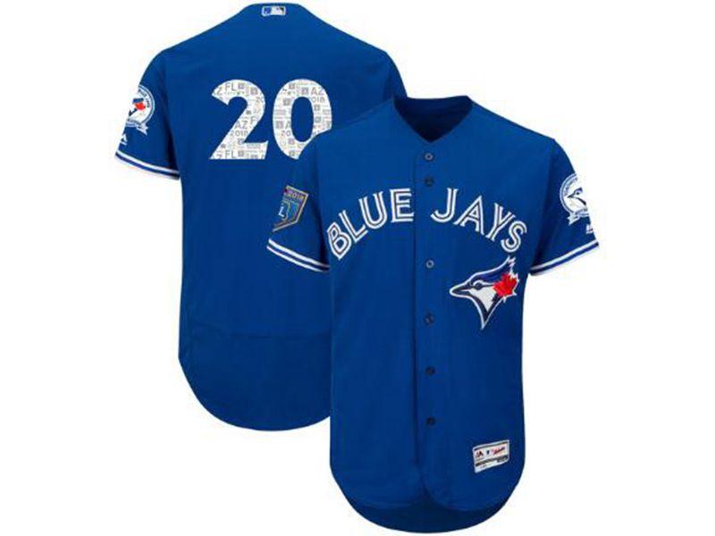 Mens Mlb Toronto Blue Jays #20 Josh Donaldson Majestic Blue 2018 Spring Training Flex Base Jersey