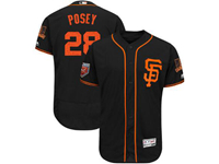 Mens Mlb San Francisco Giants #28 Buster Posey Majestic Black 2018 Spring Training Flex Base Player