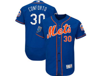 Mens Mlb New York Mets #30 Michael Conforto Majestic Blue 2018 Spring Training Flex Base Player Jersey