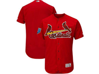 Mens Mlb St. Louis Cardinals Blank Majestic Red 2018 Spring Training Flex Base Team Jersey