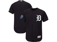 Mens Mlb Detroit Tigers Blank Majestic Navy 2018 Spring Training Flex Base Team Jersey