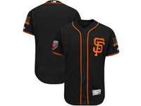 Mens Mlb San Francisco Giants Blank Majestic Black 2018 Spring Training Flex Base Team Jersey