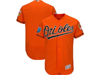 Mens Mlb Baltimore Orioles Blank Majestic Orange 2018 Spring Training Flex Base Team Jersey
