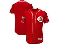 Mens Mlb Cincinnati Reds Blank Majestic Red 2018 Spring Training Flex Base Team Jersey