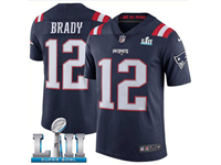 Mens Women Youth New England Patriots Blue 2018 Super Bowl Lii Bound Vapor Untouchable Color Rush Limited Player Jersey