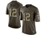 Mens Women Nfl New England Patriots #12 Tom Brady Green Camo Number 2018 Limited Jersey