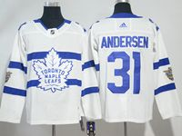 Mens Nhl Toronto Maple Leafs #31 Frederik Andersen White Adidas 2018 Stadium Series Authentic Pro Player Jersey