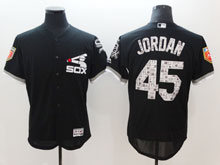 Mens Mlb Chicago White Sox #45 Michael Jordan Black 2018 Spring Training Flex Base Player Jersey