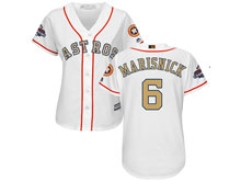 Women Mlb Houston Astros #6 Jake Marisnick White 2018 Gold Program Cool Base Player Jersey