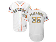 Mens Mlb Houston Astros #35 Justin Verlander White 2018 Gold Program Flex Base Player Jersey