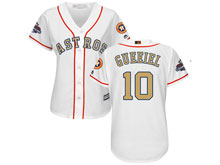 Women Mlb Houston Astros #10 Yuli Gurriel White 2018 Gold Program Cool Base Player Jersey