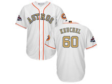Mens Mlb Houston Astros #60 Dallas Keuchel White 2018 Gold Program Cool Base Player Jersey