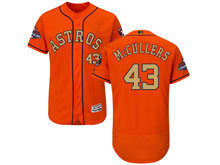 Mens Mlb Houston Astros #43 Lance Mccullers Orange 2018 Gold Program Flex Base Player Jersey