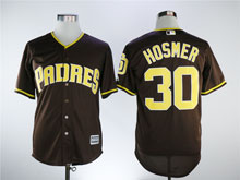 Mens Majestic San Diego Padres #30 Eric Hosmer Brown Cool Base Jersey
